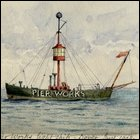 "Coloured sketch of the 'Pier Works' titled ""The 'Pier Works' lightship - Dover, June 1908.""  (GUAS Ref: UGC 195/2/12. Copyright reserved.)"