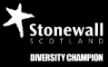 Stonewall Diversity Champion logo black small