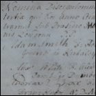 The matriculation entry of Adam Smith in 1737.  (GUAS Ref: GUA 26659 p96.  Copyright reserved.)