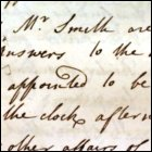Adam Smith was appointed to a committee in support of Professor William Rouet's post to be declared as vacant, as recorded in the Senate minutes, 7th February 1760.  (GUAS Ref: 26641, p19.  Copyright reserved.)
