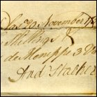 Receipt for books from Andrew Stalker, 20th November 1759. (GUAS Ref: GUA 21149. Copyright reserved.)