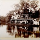 Photograph of the expedition boat, from an album recording John Graham Kerr's expedition to the Rio Pilcomayo, Paraguay, 1896. (GUAS Ref: DC 6/1230/2. Copyright reserved.)