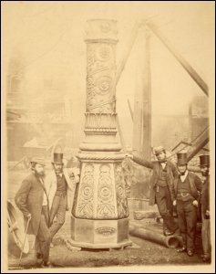 This photograph shows the detail of a column at the Gare du Nord, Paris, France.  The column was manufactured by P & W MacLellan of the Clutha Iron Works, Glasgow, n.d.  (GUAS Ref: UGD 153/19/1/2. Copyright reserved.)