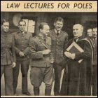 Some of the Polish Forces studying law with Professor Dewar Gibb at Glasgow University, 1941.  (GUAS Ref: IP.  Copyright reserved.)