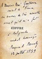Joffre (Sp Coll Gautherin 9) by Raymond Recouly. Links to more information on this book.