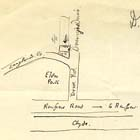 Sketch of a map of the area surrounding D. Hamilton's residence at 18 Barrington Drive. Response to Professor Gregory's request for personal accounts of the Glasgow earthquake, which occurred December 14 1910 (MS Gen 535/39). Links to more information on this book.