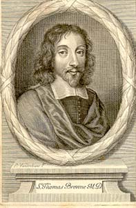 Frontispiece portrait of Sir Thomas Browne from Monro 128.