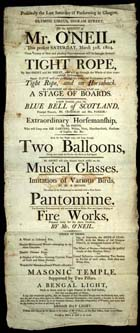 19th century poster for the Olympic Circus on Ingram Street in Glasgow (Ephemera E63) - Links to web exhibition on John Smith