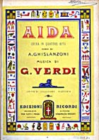 Title-page of vocal score of Verdi's Aida (Milan: 1873?): Sp Coll Cb2-c.49 - Links to more information on this book