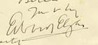 Detail from letter from Edward Elgar: MS Zavertal Cb13-y.5/7 - Links to more information about this item.