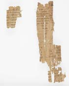 Fragment of papyrus excavated from Oxyrhynchus. St John's Gospel xv, xvi. (Ms Gen 1026/13) - Links to web exhibition on these objects
