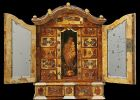 Miniature baroque amber cabinet of King Stanisław August Poniatowski (the last king of Poland). Made in Gdańsk after 1771. Donated by Lady Barbara Carmont of Edinburgh to the Malbork Castle Museum collections in 1979. © Malbork Castle Museum.