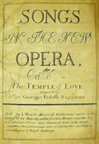 "Titlepage of Fedeli's ""Temple of Love"" (London: [1706]) Sp Coll Ca13-y.22 - Links to more information on this item."
