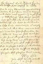 Handwritten letter to General Monck, army officer, 10 January 1660. (MS Gen 210) Links to book of the month article.