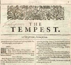 Annotated copy of The Tempest from a First Folio edition of Shakespeare's collected plays, 1623. (Sp Coll BD8-b.1) Links to book of the month article.