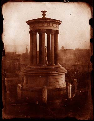 The Dugald Stewart Monument on Calton Hill; links to further information about this photograph