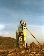 Total station positioning during the Riu Mannu survey (1994)