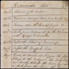 The third page from Andrew Service's logbook recording events on board HMS Medusa. This page, dated 1805, covers the period from 4th April to 18th July of 1805, and reports HMS Medusa sailing to the East Indies with Marquis Cornwallis on board. (GUAS Ref: UGC 182. Copyright reserved.)