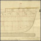 Inboard profile plan of HMS Medusa, dated 1800.  Scale is 1:48.  (Image courtesy of the National Maritime Musuem, Plan Ref: ZAZ2966, Image Ref: J5892.  Copyright reserved.)