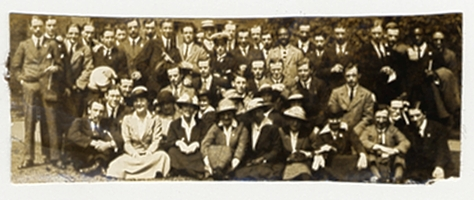 Students in 1917 with permission of Glasgow University Archive Services