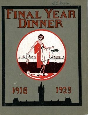 Final Year Dinner Menu © Royal College of Physicians and Surgeons of Glasgow