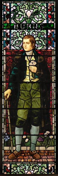 Robert Burns stained glass