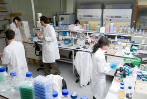 Students working in Mres Laboratory