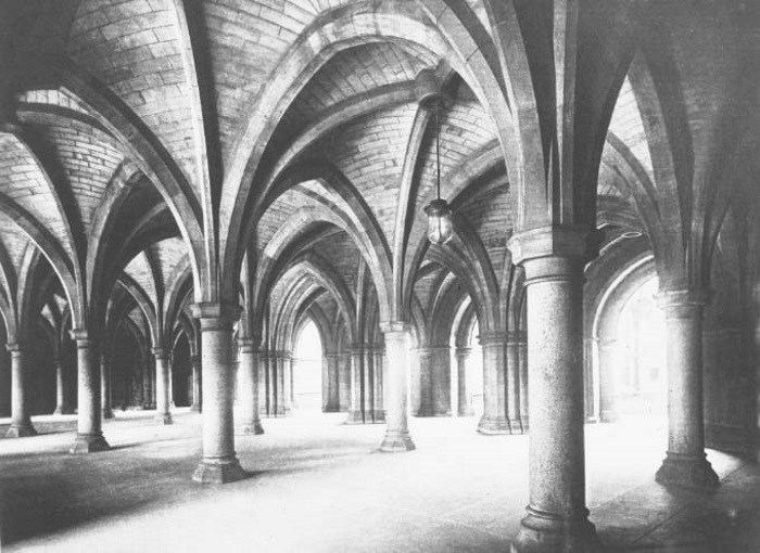 University Cloisters 1900, with permission of Glasgow University Archive Services