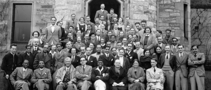 Overseas students in the 1930s with permission of Glasgow University Archive Services