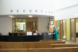 Image of reception desk
