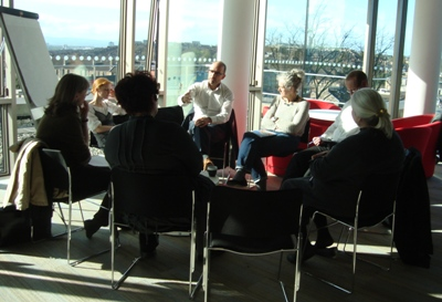 Small group discussion, The Real Think Research Network meeting, October 2011