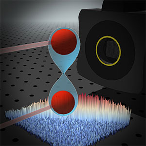 In quantum mechanics, entangled photons arrive in identical pairs.
