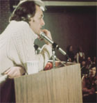 "R D Laing talking to audience in Chicago, 1972. From ""R D Laing in the USA"" (c) Surveillance Films, inc."