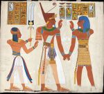 detail of Egyptian tomb painting by Rev Colin Campbell