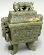 carved jade box from China