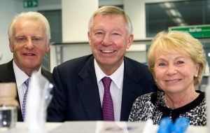 Sir Alex, Malcolm Howat and wife Margaret Howat