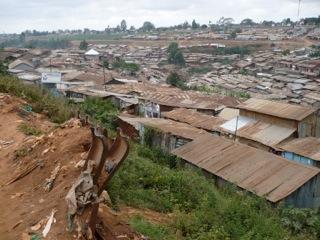 Kibera slum in Nairobi, Kenya