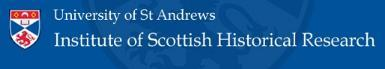 Institute of Scottish Historical Research Banner St Andrews University