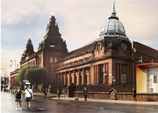 An artist's impression of the new Kelvin Hall building.