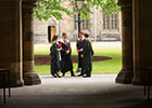 New graduates in cloisters thumbnail