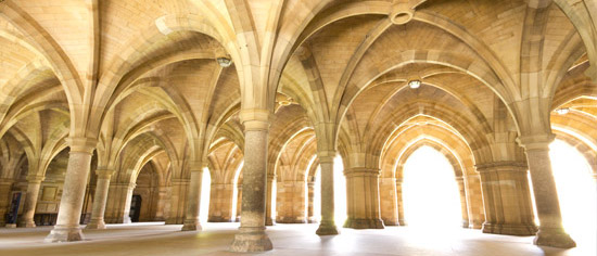 The Undercroft in the Main Building, University of Glasgow