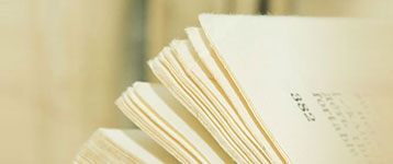 close up of the pages of a book