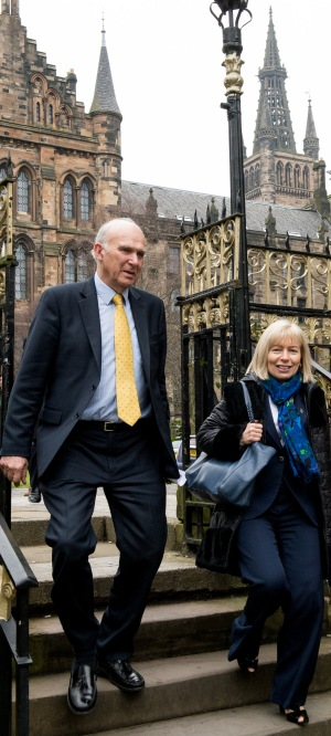 Vince Cable at announcement of £10m SMS-IC funding 13/3/14 with Anna Dominiczak.