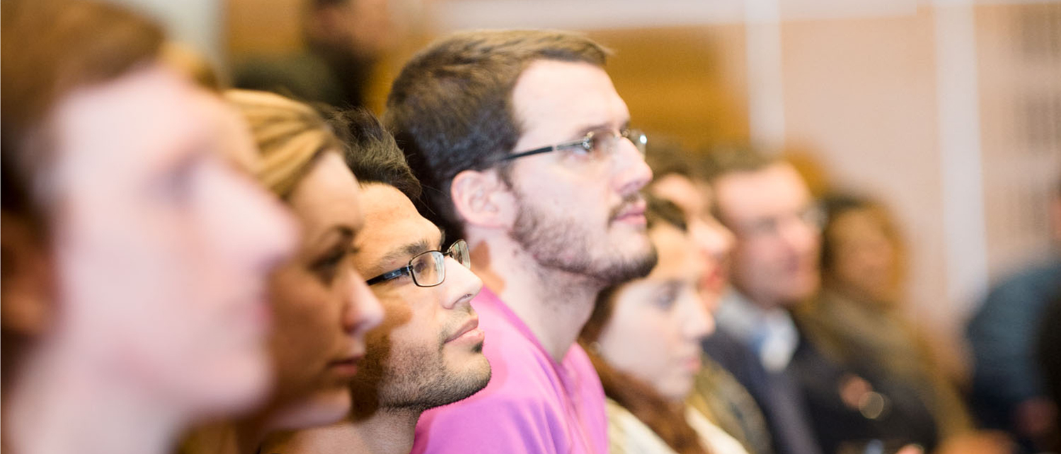 students in a lecture at Glasgow University School of Law