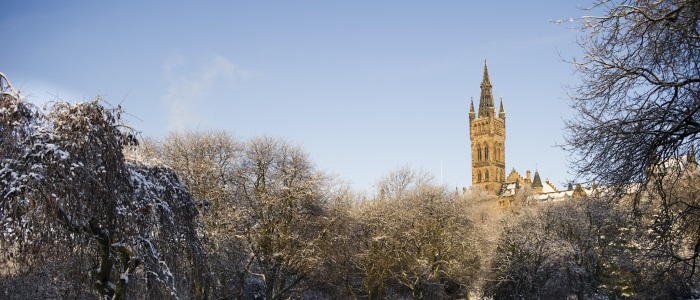 Tower from Kelvingrove during winter