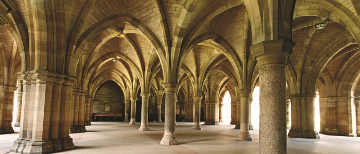 University of Glasgow cloisters - day
