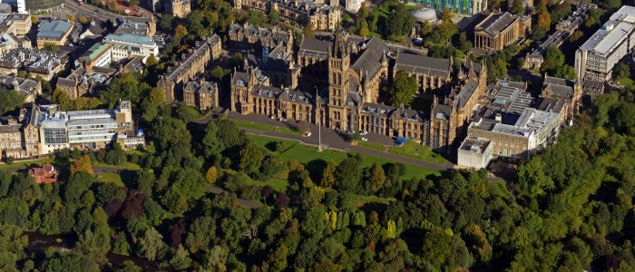 Aerial view of the Gilmorehill campus