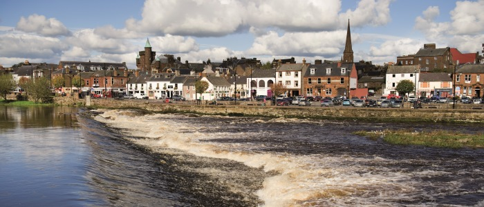 View of Dumfries from the river