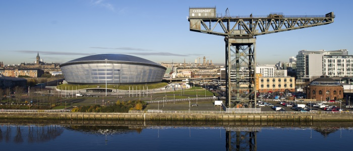 The Hydro and Clydeport crane