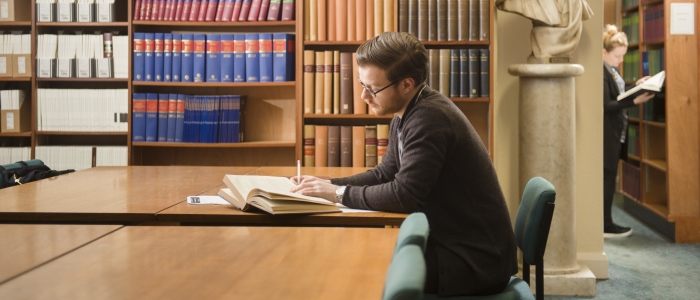 Law students studying